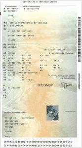 specimen certificat immatriculation