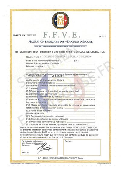 specimen attestation ffve