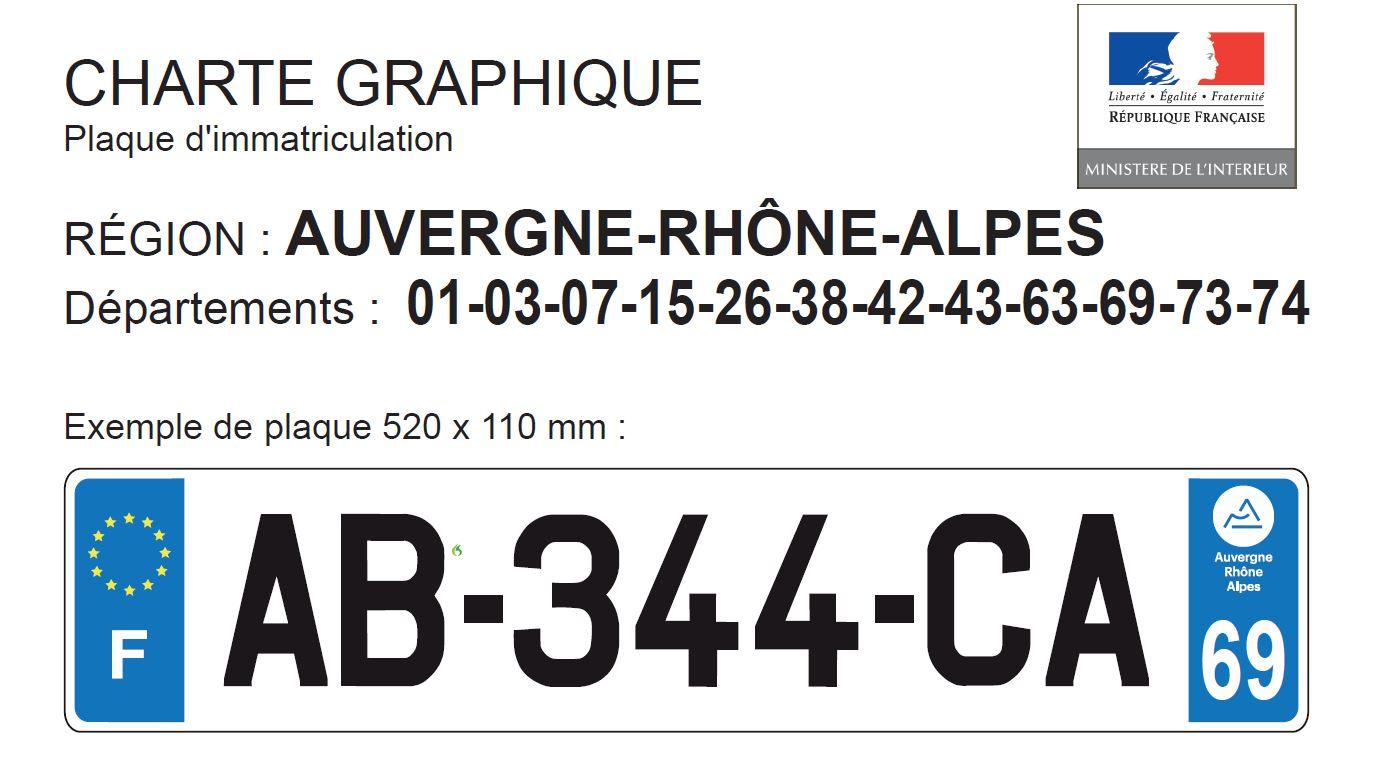 logo des nouvelles plaques Auvergne-Rhône-Alpes